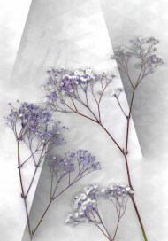 Abstract Floral Landscape Lilac